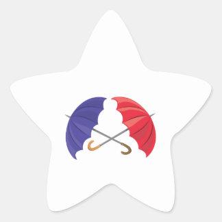 Umbrellas Star Stickers