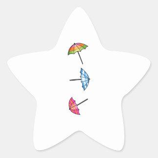 Umbrellas Star Sticker