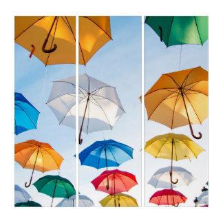 Umbrellas Triptych