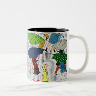 Umbrellas Two-Tone Coffee Mug