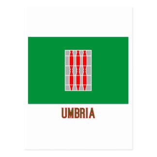 Umbria flag with name postcard