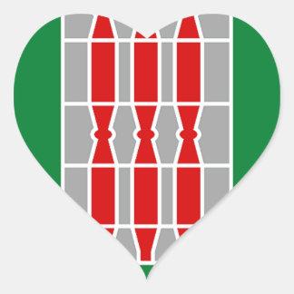 Umbria (Italy) Flag Heart Sticker