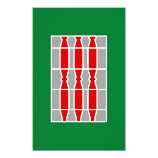 Umbria (Italy) Flag Stationery Design