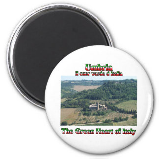 Umbria the Green Heart of Italy 2 Inch Round Magnet