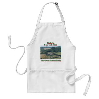 Umbria the Green Heart of Italy Adult Apron
