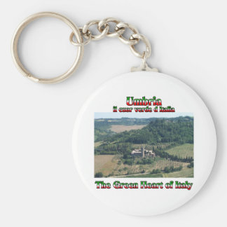 Umbria the Green Heart of Italy Basic Round Button Keychain