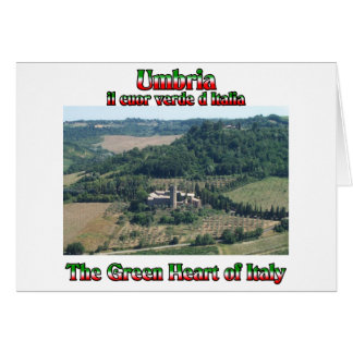 Umbria the Green Heart of Italy Card
