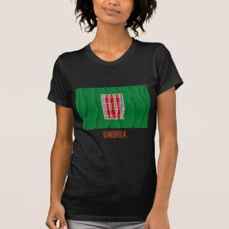 Umbria waving flag with name t shirts