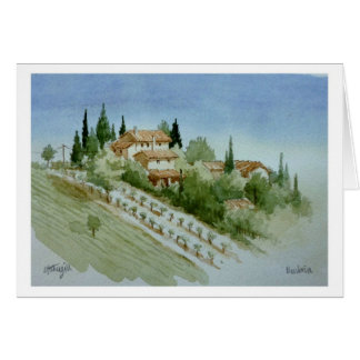 Umbrian Farmhouse Greeting Card