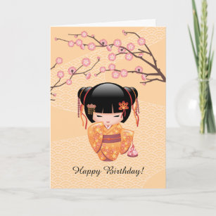 Japanese Birthday Cards