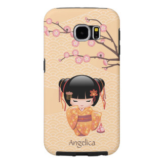 Ume Kokeshi Doll - Japanese Peach Geisha Girl Samsung Galaxy S6 Case