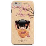 Ume Kokeshi Doll - Japanese Peach Geisha Girl Tough iPhone 6 Plus Case