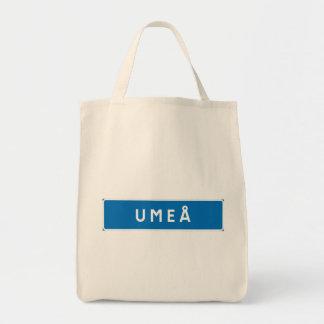 Umea, Swedish road sign Canvas Bag