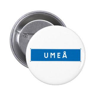 Umea, Swedish road sign Pins