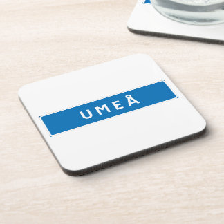 Umea, Swedish road sign Drink Coaster