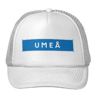 Umea, Swedish road sign Hats