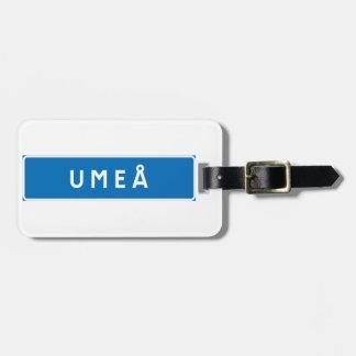 Umea, Swedish road sign Luggage Tag