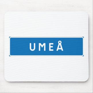 Umea, Swedish road sign Mousepads