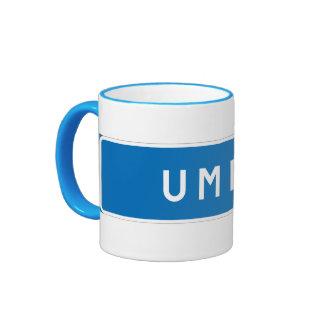 Umea, Swedish road sign Coffee Mugs