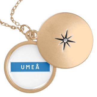 Umea, Swedish road sign Locket