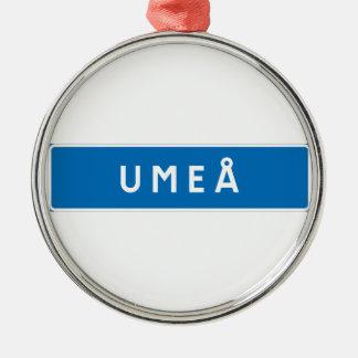 Umea, Swedish road sign Christmas Tree Ornament