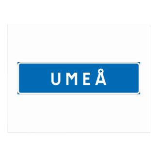 Umea, Swedish road sign Postcards