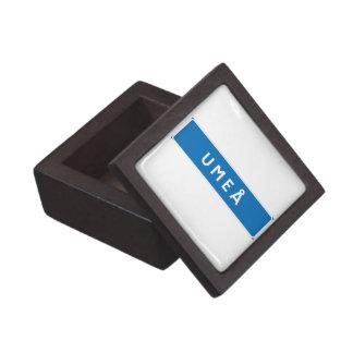 Umea, Swedish road sign Premium Gift Box