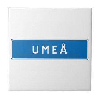 Umea, Swedish road sign Tile