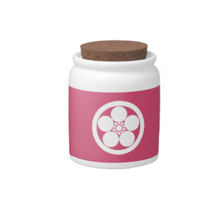 Umebachi-style plum blossom in circle candy jars
