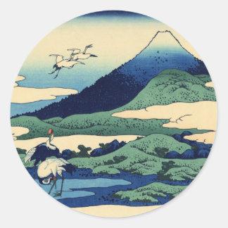Umegawa in Sagami Province Classic Round Sticker