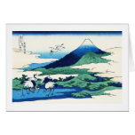 Umegawa in Sagami province Katsushika Hokusai Stationery Note Card