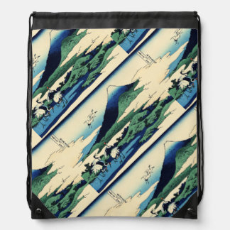 Umegawa in Sami Province Of The Clouds Drawstring Backpack