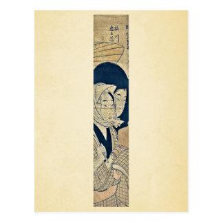 Umegawa y Chubei por Kitagawa, Utamaro Ukiyoe Tarjetas Postales