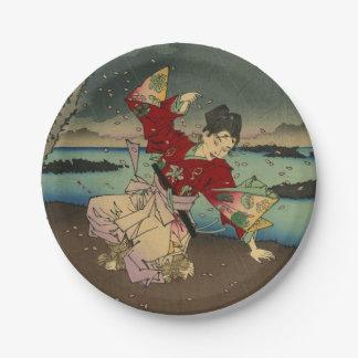 Umewaka en el río de Sumida (2: 3) Plato De Papel De 7 Pulgadas