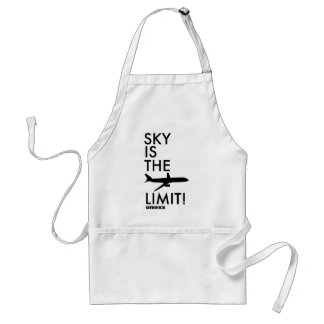 """umexx air  """"SKY IS THE LIMIT!"""" Adult Apron"""