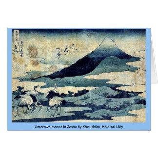 Umezawa manor in Soshu by Katsushika, Hokusai Ukiy Card