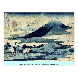 Umezawa manor in Soshu by Katsushika, Hokusai Ukiy Postcard