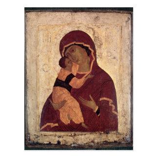 Umilenie Virgin of Wladimir, Moscow School Postcard