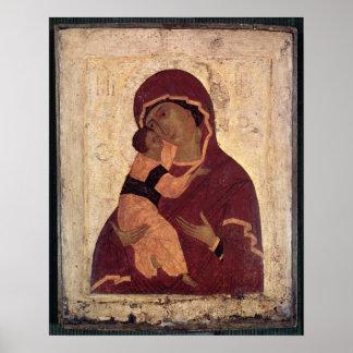 Umilenie Virgin of Wladimir, Moscow School Poster
