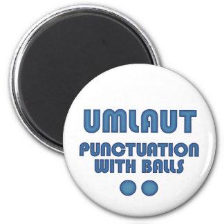 Umlaut Balls (Blue) 2 Inch Round Magnet