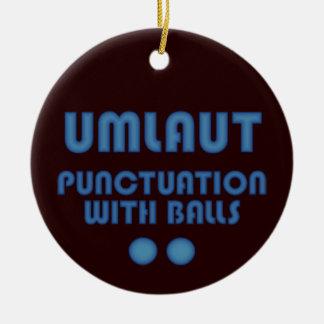 Umlaut Balls (Blue) Christmas Ornament