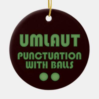 Umlaut Balls (Green) Christmas Ornament