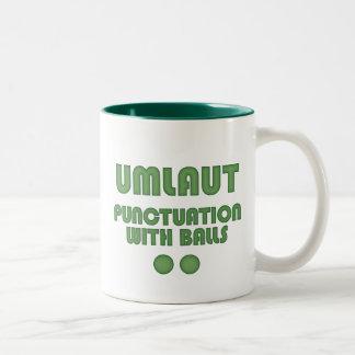 Umlaut Balls (Green) Mug