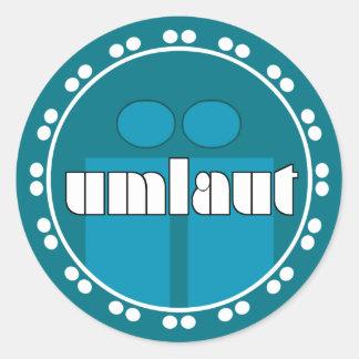 Umlaut Rondell Stickers - Ocean Blue
