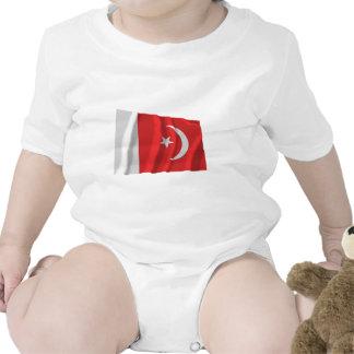 Umm bandera que agita del al-Quwain Traje De Bebé