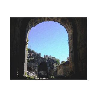 Umm Qais Roman Archway Canvas Print