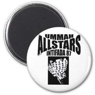 Ummah Allstars Intifada 87 2 Inch Round Magnet