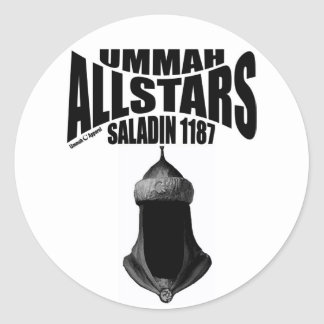 Ummah Allstars Saladin Classic Round Sticker