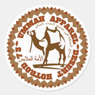 Ummah Apparel Desert Hotrod Classic Round Sticker