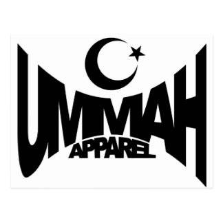 Ummah Apparel Star & Crescent Postcard